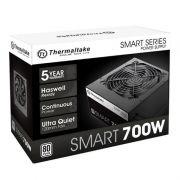 Fonte ATX Thermaltake Smart 700W Real - PFC Ativo - 80 Plus White - PS-SPD-0700NPCWBZ-W