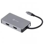 HUB USB C Vinik5 em 1 com 2 HDMI + VGA + USB 3.0 + Power Delivery (PD) 60W  HC-5VGA - PC FLORIPA
