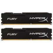 Kit Memória 8GB HyperX Fury Preto Kingston (2x4) DDR3 1600 - HX313C9FBK2/8 - PC FLORIPA