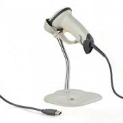 Leitor de Código de Barras Laser / Boleto USB C/ Suporte Automático - PC FLORIPA