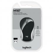 Mouse Logitech M187 USB sem fio 1000DPI - 910-005459 - PC FLORIPA