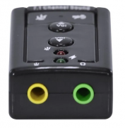 Placa de Som 7.1 USB Virtual Sound Vinik AUSB71 - PC FLORIPA