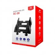 Suporte para CPU C3-Tech com Rodas SC-20BK - PC FLORIPA