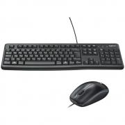 Teclado e Mouse Logitech MK120 com fio Preto ABNT2 - 920-004429 - PC FLORIPA