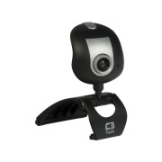 Webcam C3Tech 30 MP(Interpolados)  USB Preto/Prata - PC FLORIPA