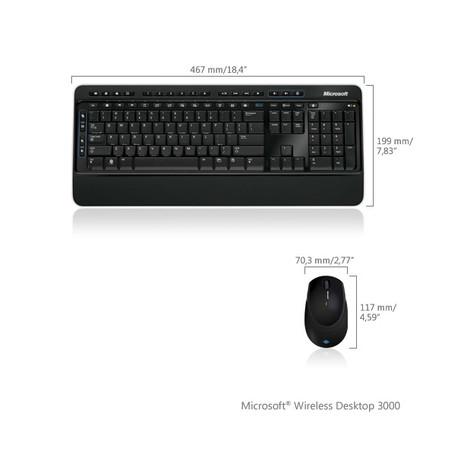 Teclado Microsoft e Mouse Wireless Desktop 3000 - PC FLORIPA