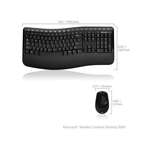 Teclado Microsoft e Mouse Wireless Confort Desktop 5000 - PC FLORIPA