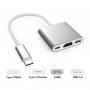 Adaptador Tipo-C HDMI / HDMI USB 3.0 + Tipo-C fêmea IT-Blue LE-5573