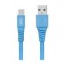 Cabo USB-C 1,2mts 2,4A PVC Flexível Flat i2GO I2GCBL555