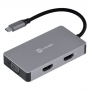 HUB USB C Vinik5 em 1 com 2 HDMI + VGA + USB 3.0 + Power Delivery (PD) 60W  HC-5VGA