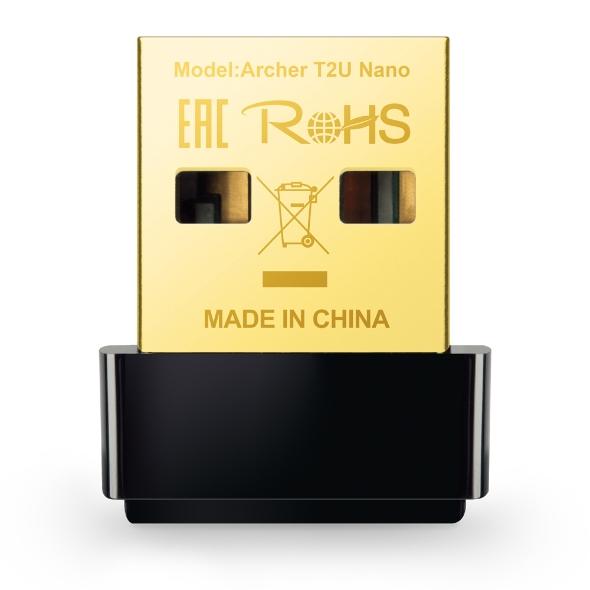 Adaptador TP-Link Archer T2U Nano (US) Wireless USB 2.0 AC600 v.1 - PC FLORIPA