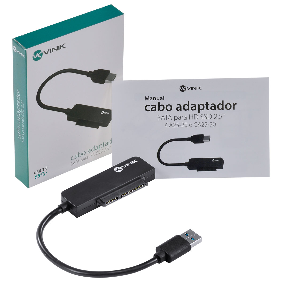 Cabo Adaptador SATA para HD SSD 2.5