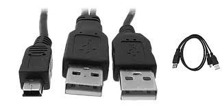 Cabo USB 2.0 ´Y´ 5 Pinos P/ HD Externo MD9 - PC FLORIPA