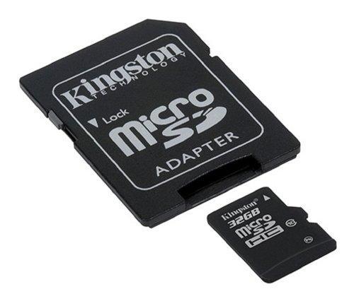Cartão de Memória 32 GB SDHC - All-In-One (Micro/SD) - Kingston - CLASSE 10 - SDC10/32GB - PC FLORIPA