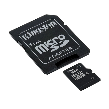 Cartão de Memória 8 GB SDHC - All-In-One (Micro/SD) - Kingston - CLASSE 10 - SDC10/8GB - PC FLORIPA