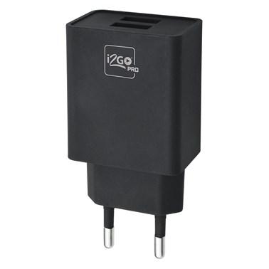 Carregador De Parede Com 2 Saídas USB Entrada 100-240V Saída 5V-2,4A i2GO I2GDBL203 - PC FLORIPA