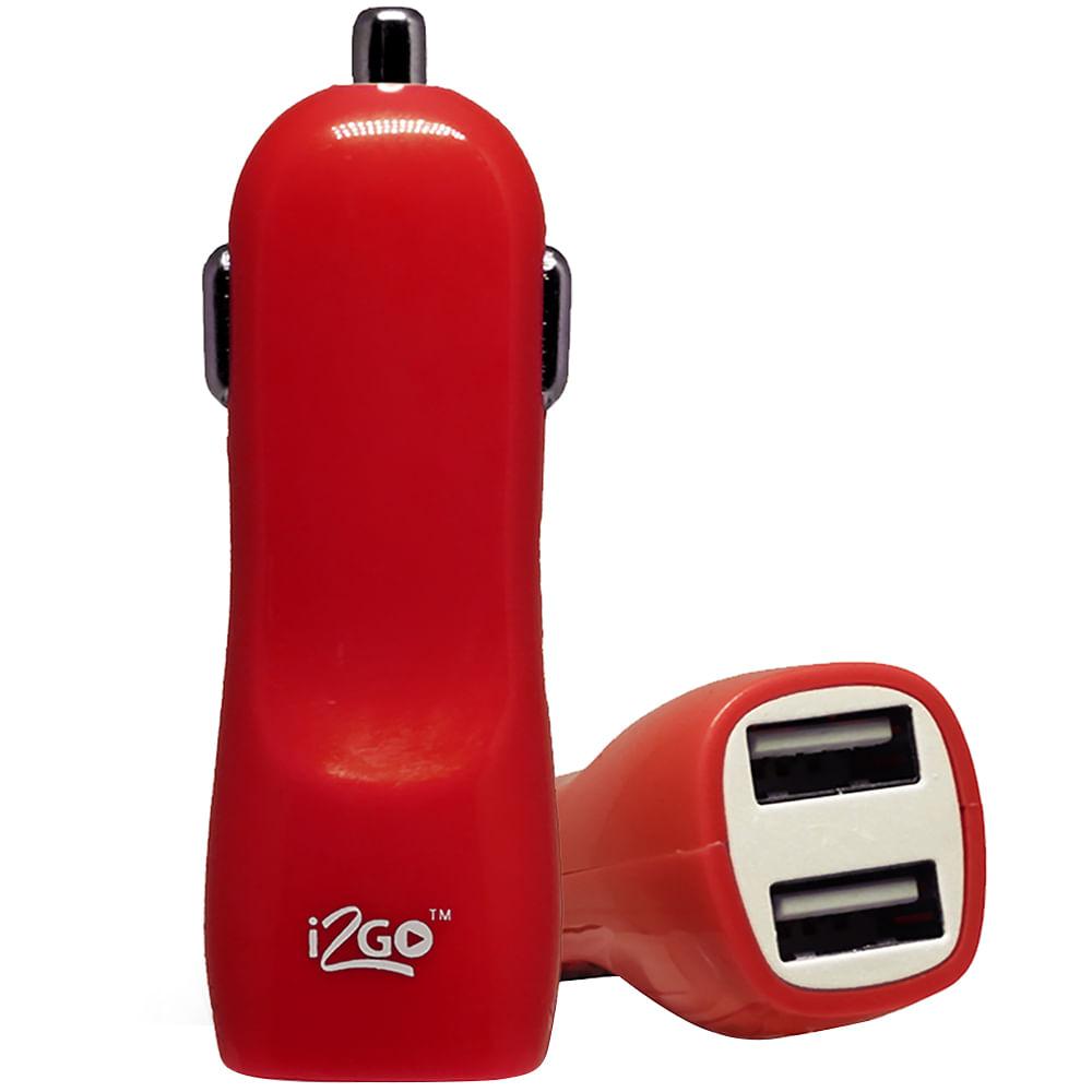 Carregador Veicular Com 2 Saídas USB I2GO Entrada 12-24V Saída 5V-2,1A I2GCAR197 - PC FLORIPA