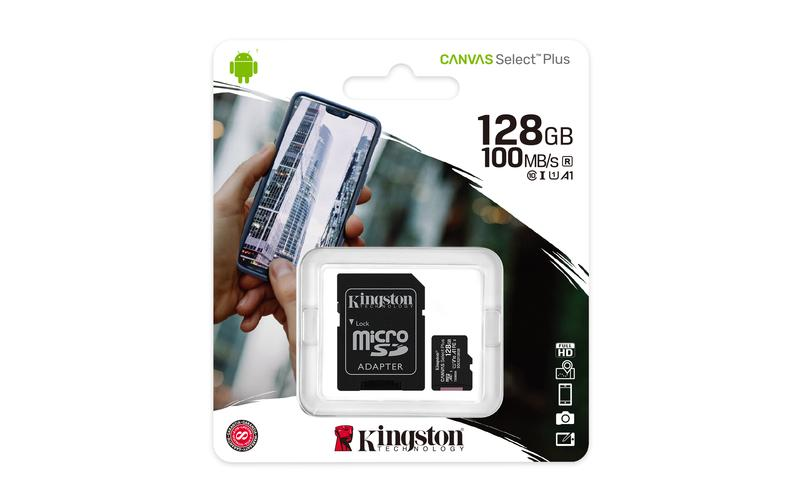 Cartão de Memória Kingston Canvas Select Plus MicroSD 128GB Classe 10 SDCS2/128GB - PC FLORIPA