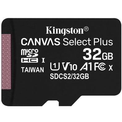 Cartão de Memória Kingston Canvas Select Plus MicroSD 32GB Classe 10 SDCS2/32GB - PC FLORIPA