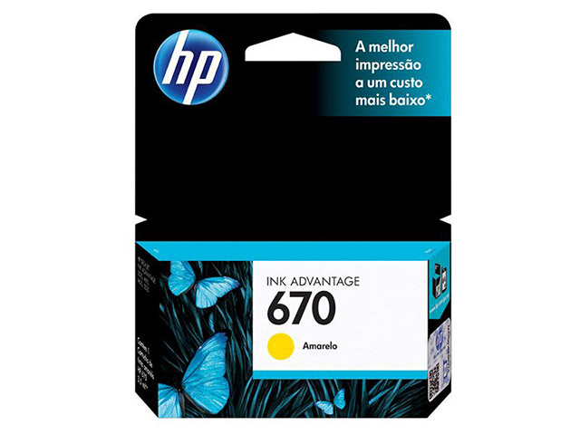 Cartucho HP Original 670 Amarelo - PC FLORIPA