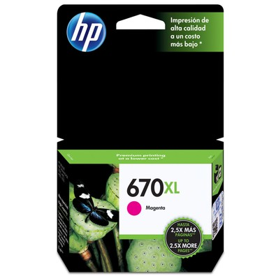 Cartucho HP Original 670XL Magenta - CZ119AB - PC FLORIPA