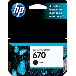 Cartucho HP Original CZ113AB (670) Preto - PC FLORIPA