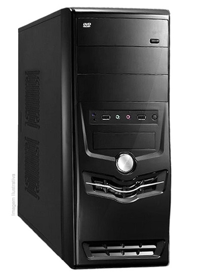 Computador PC FLORIPA - Intel Core i3 4170 3.7GHz - 4GB DDR3 - HD 1TB GB - DVD-RW - PC FLORIPA