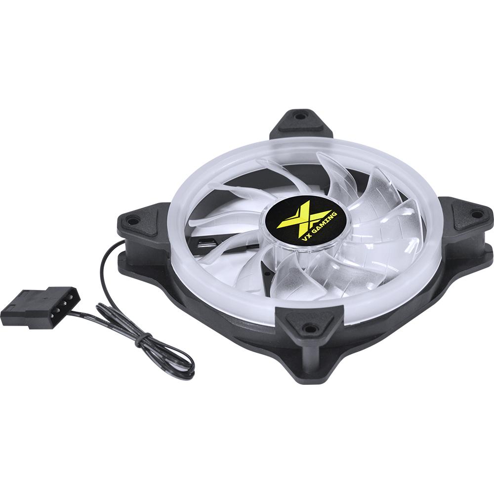 Cooler P/ Gabinete 120mm VX Gaming V.Lumi LED AZUL VLUMI15B - PC FLORIPA