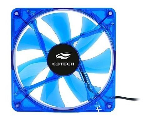 Cooler P/ Gabinete 80mm C3Tech Storm F7 LED AZUL - PC FLORIPA