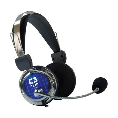 Fone de Ouvido C/ Microfone C3Tech Pterodax MI-2322RC - PC FLORIPA
