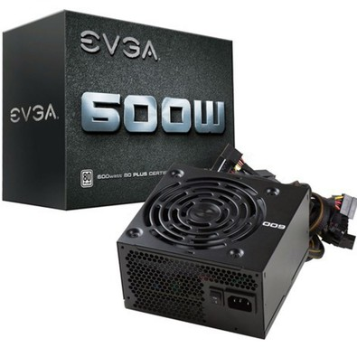 Fonte ATX EVGA 600W Real - 80 Plus White - PC FLORIPA