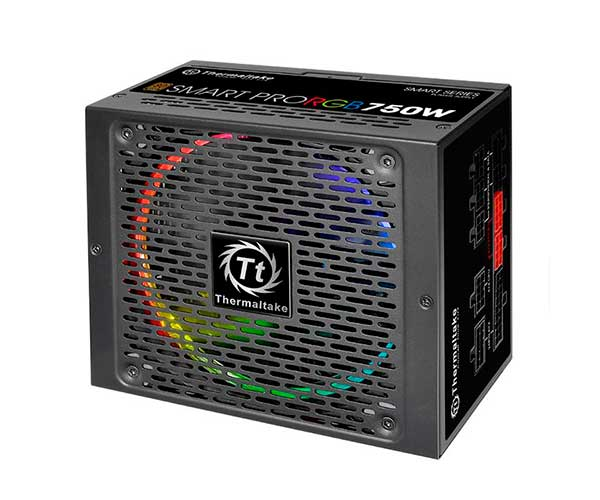 Fonte ATX Thermaltake Smart 750W Real - PFC Ativo - 80 Plus Bronze MODULAR - SPR-0750F-R - PC FLORIPA