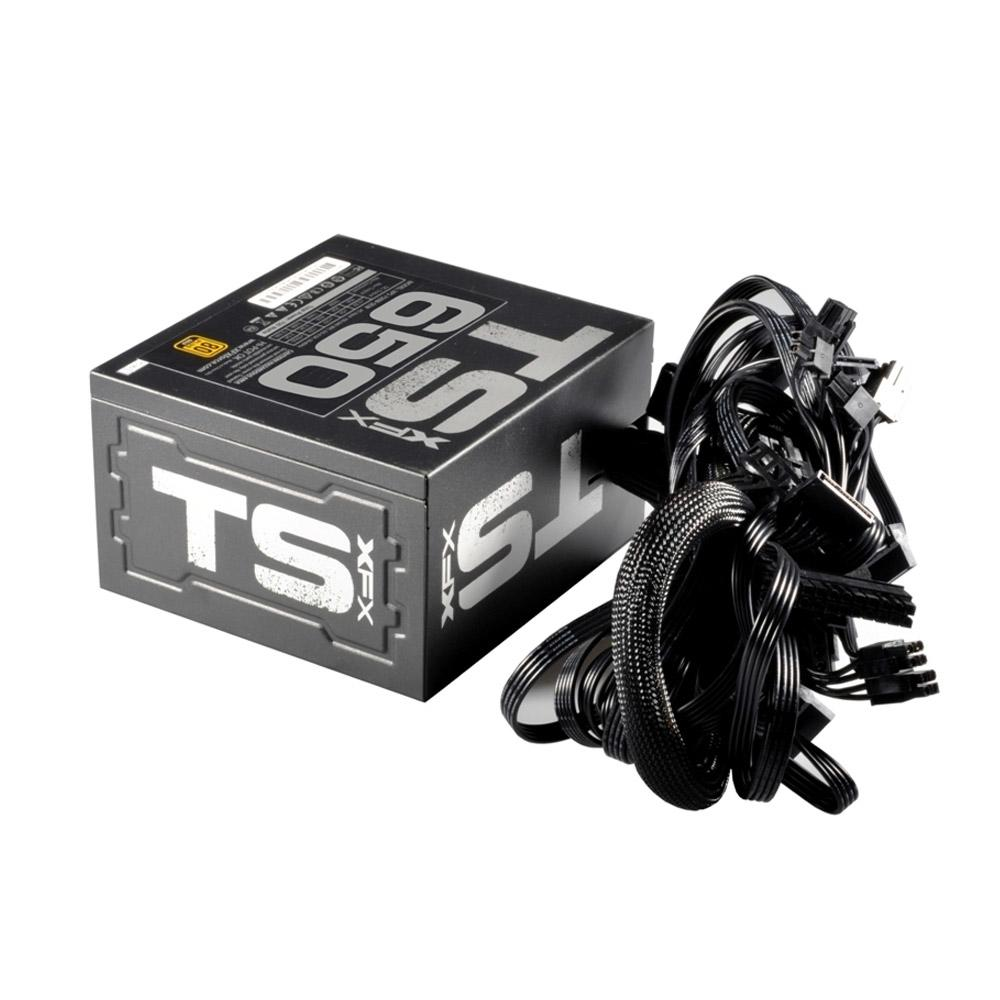 Fonte ATX XFX 650W Real - PFC Ativo - 80 GOLD  - P1-650G-TS3X - PC FLORIPA