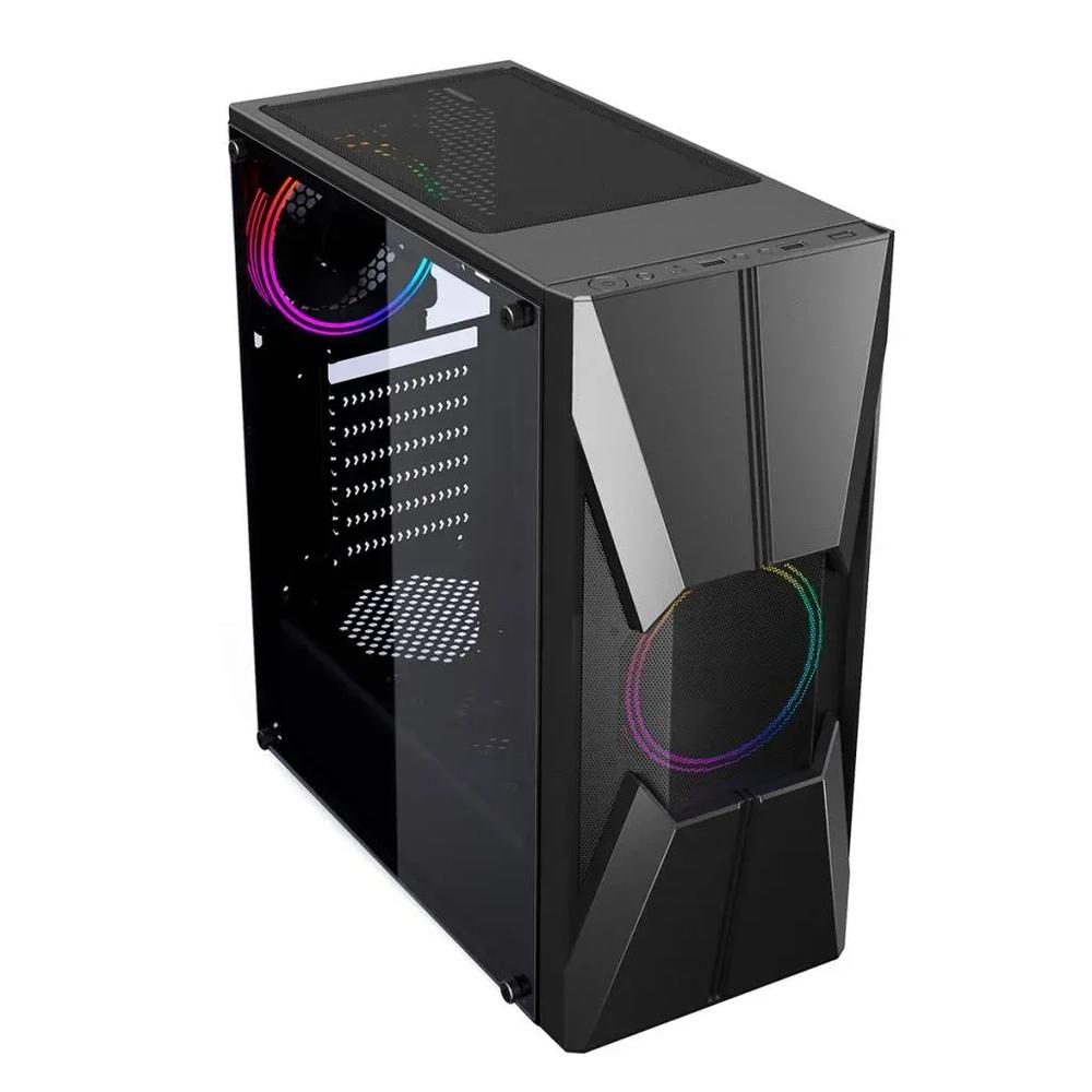 Gabinete Gamer Pixxo CGG17B c/ lateral de acrílico - PC FLORIPA