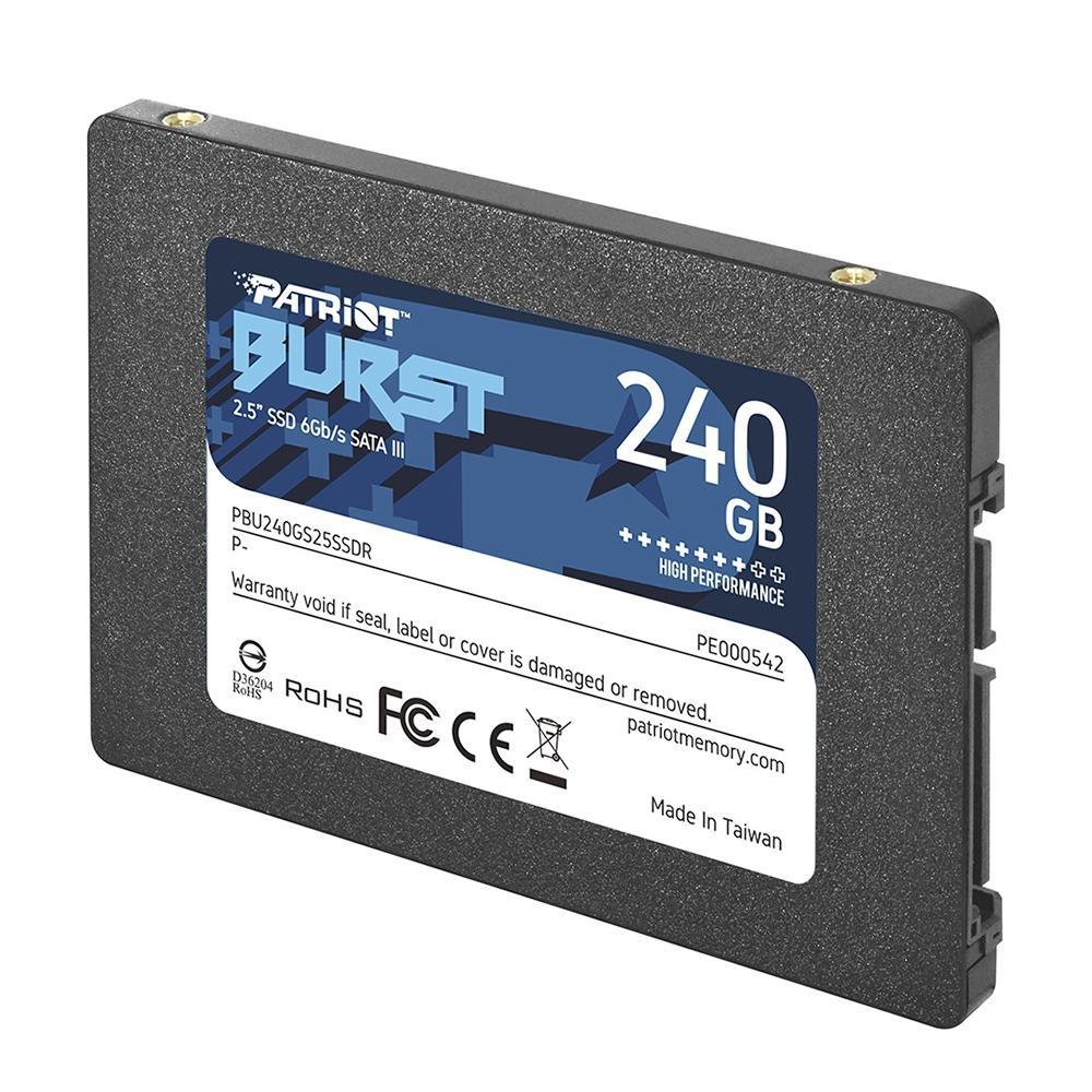 SSD Patriot Busrt Elite 240 GB 2,5´ SATA III - PBU240GS25SSDR - PC FLORIPA