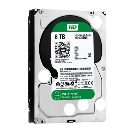 HD Wester Digital 6.0 TB SATA 7200 RPM - 64MB Cache - WD60EZRX - PC FLORIPA