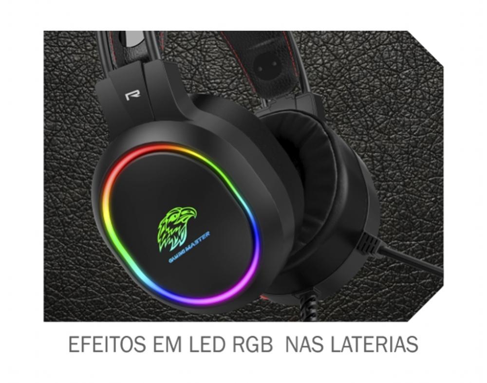 Headset Gamer RGB - AR43 - PC FLORIPA