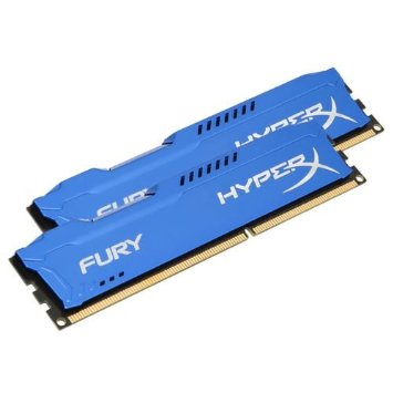Kit Memória 16GB HyperX Fury Azul Kingston (2x8) DDR3 1600 -  HX316C10FK2/16 - PC FLORIPA