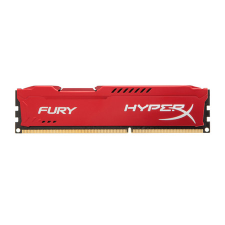 Memória 4 GB DDR3 1866 Kingston - HyperX Fury Vermelha - HX318C10FR/4 - PC FLORIPA