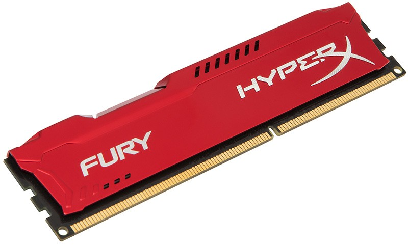 Memória 8 GB DDR3 1600 Kingston - HyperX Fury Vermelha - HX316C10FR/8 - PC FLORIPA