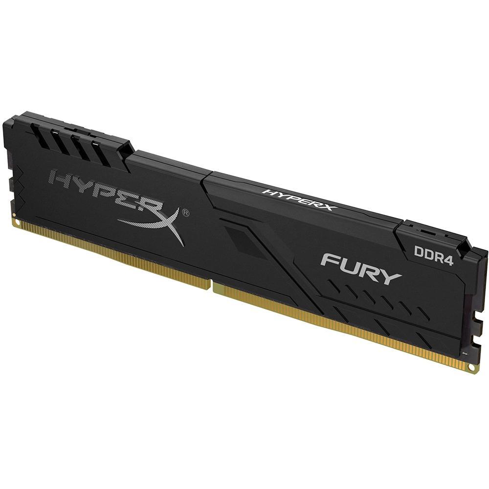 Memória 8GB HyperX Fury Preto Kingston DDR4 2666 - HX426C16FB3/8 - CL16 - PC FLORIPA