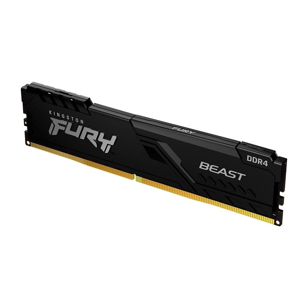 Memória RAM Kingston Fury Beast 8GB 3200MHz DDR4 CL16 KF432C16BB/8 - PC FLORIPA