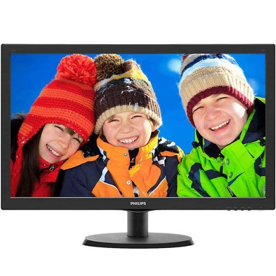 Monitor Philips 21,5 LED 223V5LHSB2 Widescreen - HDMI - VGA - PC FLORIPA
