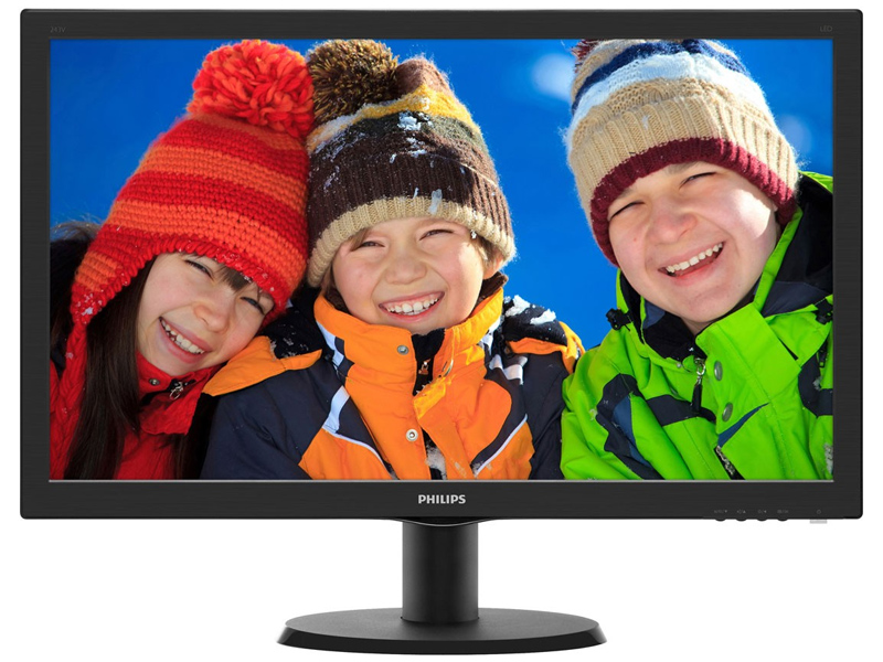 Monitor Philips 23,6 LED 243V5QHAB - Widescreen - HDMI - DVI - VGA - PC FLORIPA