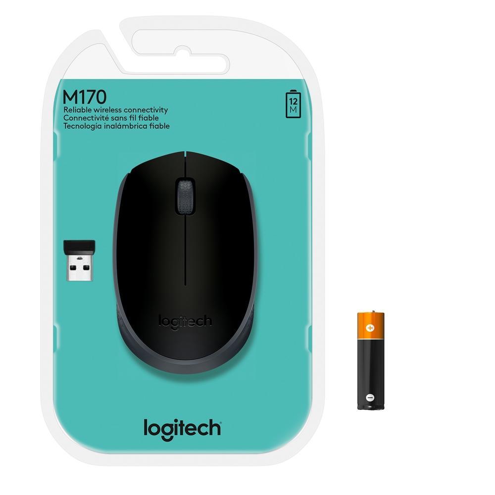 Mouse Logitech M170 USB sem fio 1000DPI - 910-004425 - PC FLORIPA