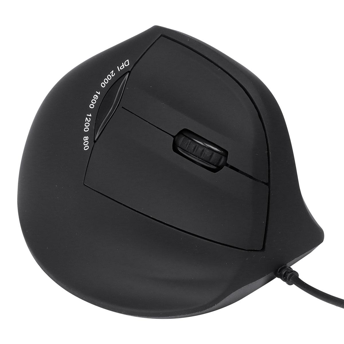 Mouse Vertical Vinik Fit Preto 1600DPI - MF100 - PC FLORIPA