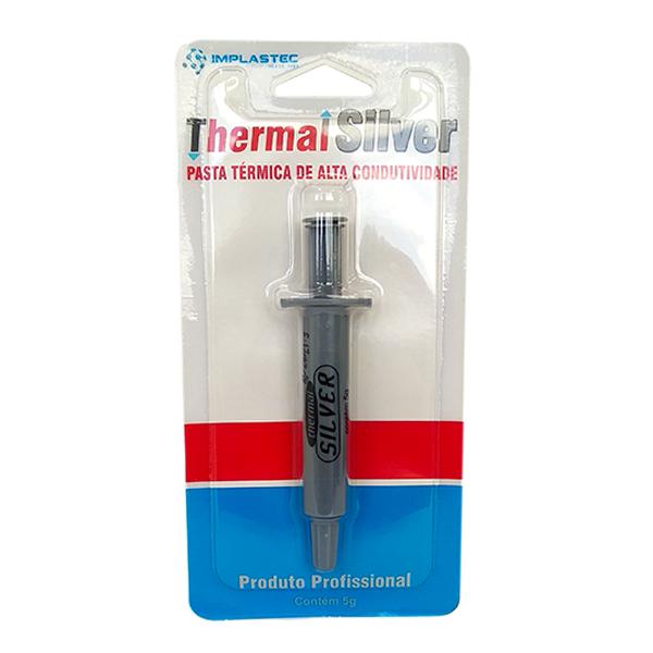 Pasta Térmica Prata Thermal Silver Implastec 5g - PC FLORIPA