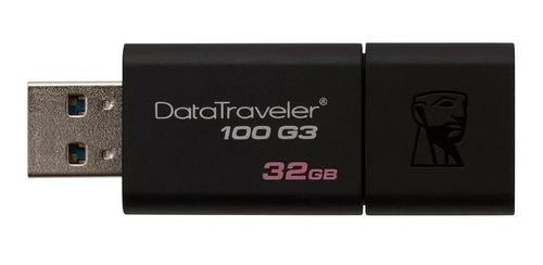 Pendrive Kingston 32GB USB 3.1 DT100 - PC FLORIPA
