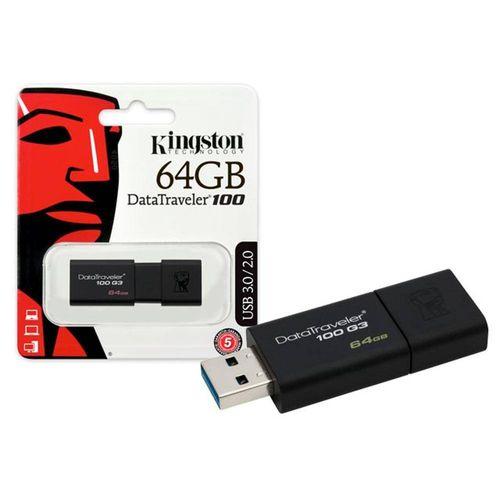 Pendrive Kingston 64GB USB 3.1 DT100 - PC FLORIPA