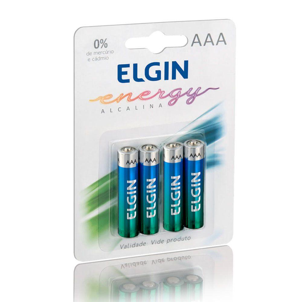 Pilha Elgin Alcalina LR03 1.5v - 4 Pilhas 82155 - PC FLORIPA
